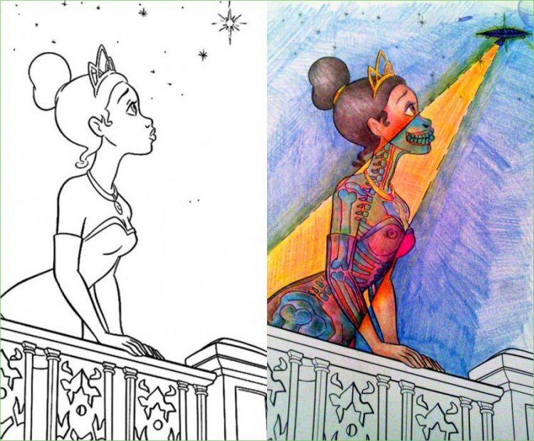 Image result for dark disney coloring book